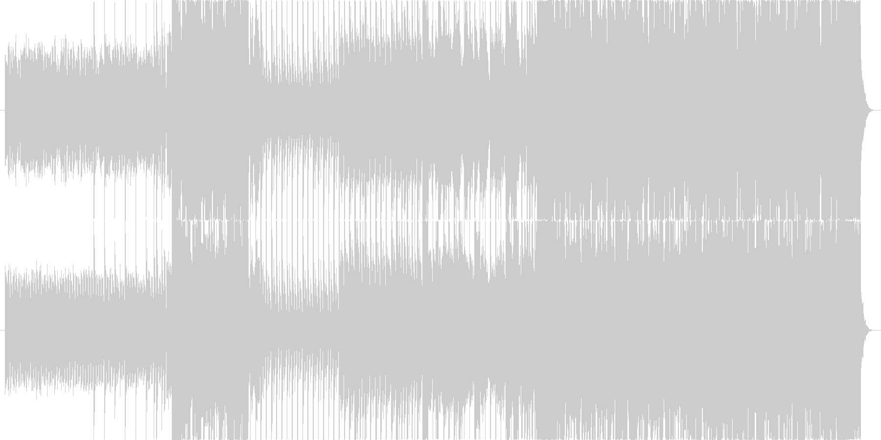明るくせつないエレクトロダンスEDMの未再生の波形