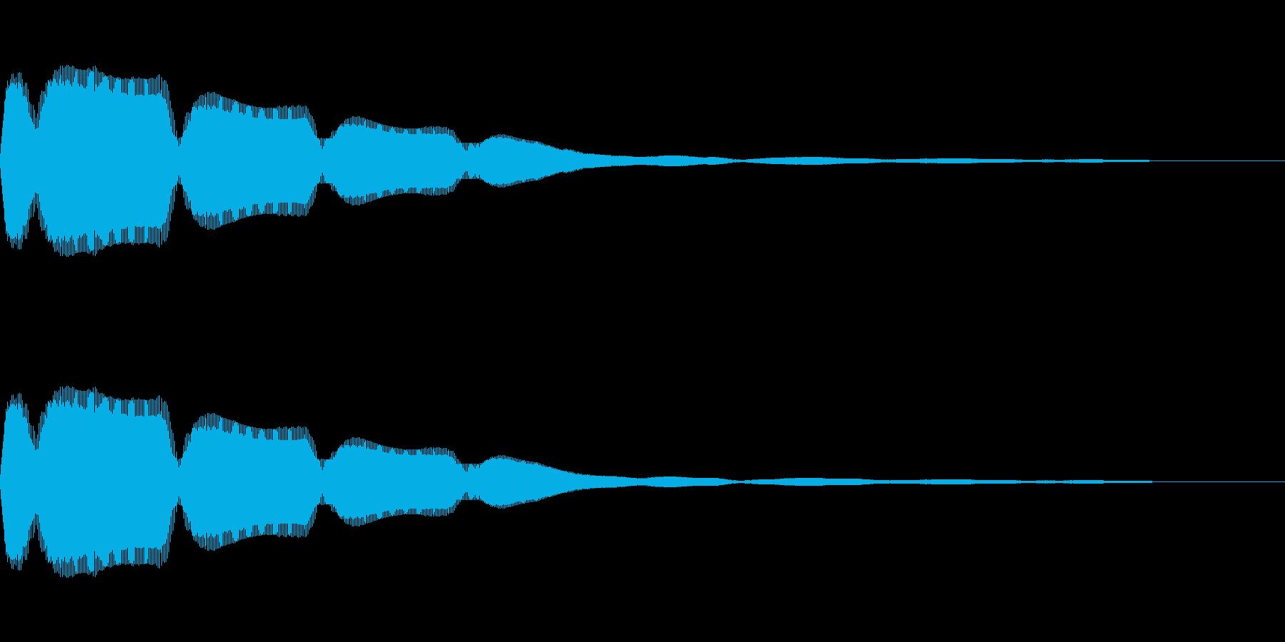 クイズ番組などで回答する時のボタン音の再生済みの波形
