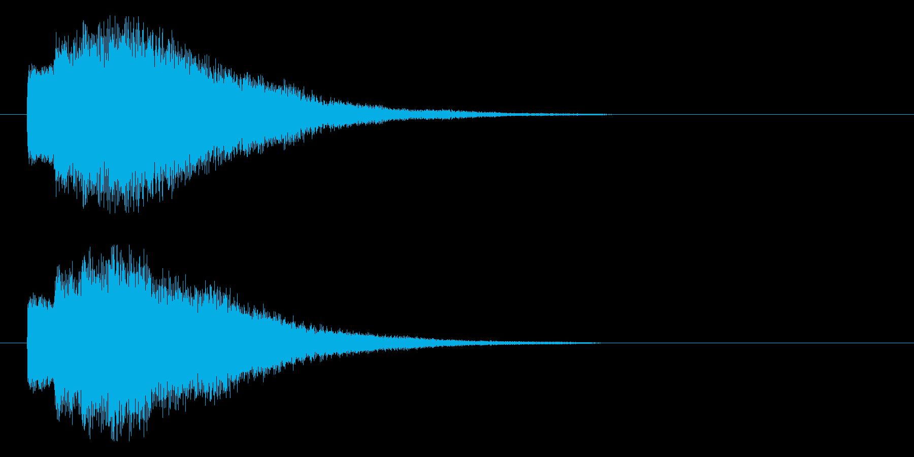 注目、発表等の再生済みの波形