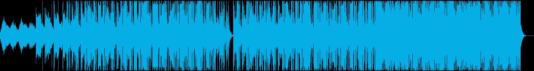 神秘で精神的な落ち着いた神秘的曲の再生済みの波形