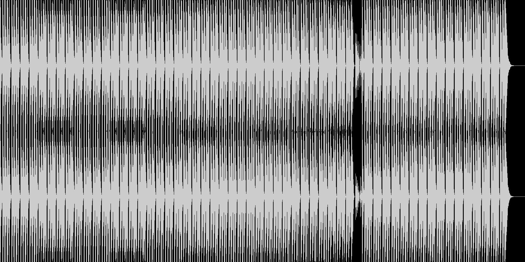 シンプルで印象的なテクノの未再生の波形
