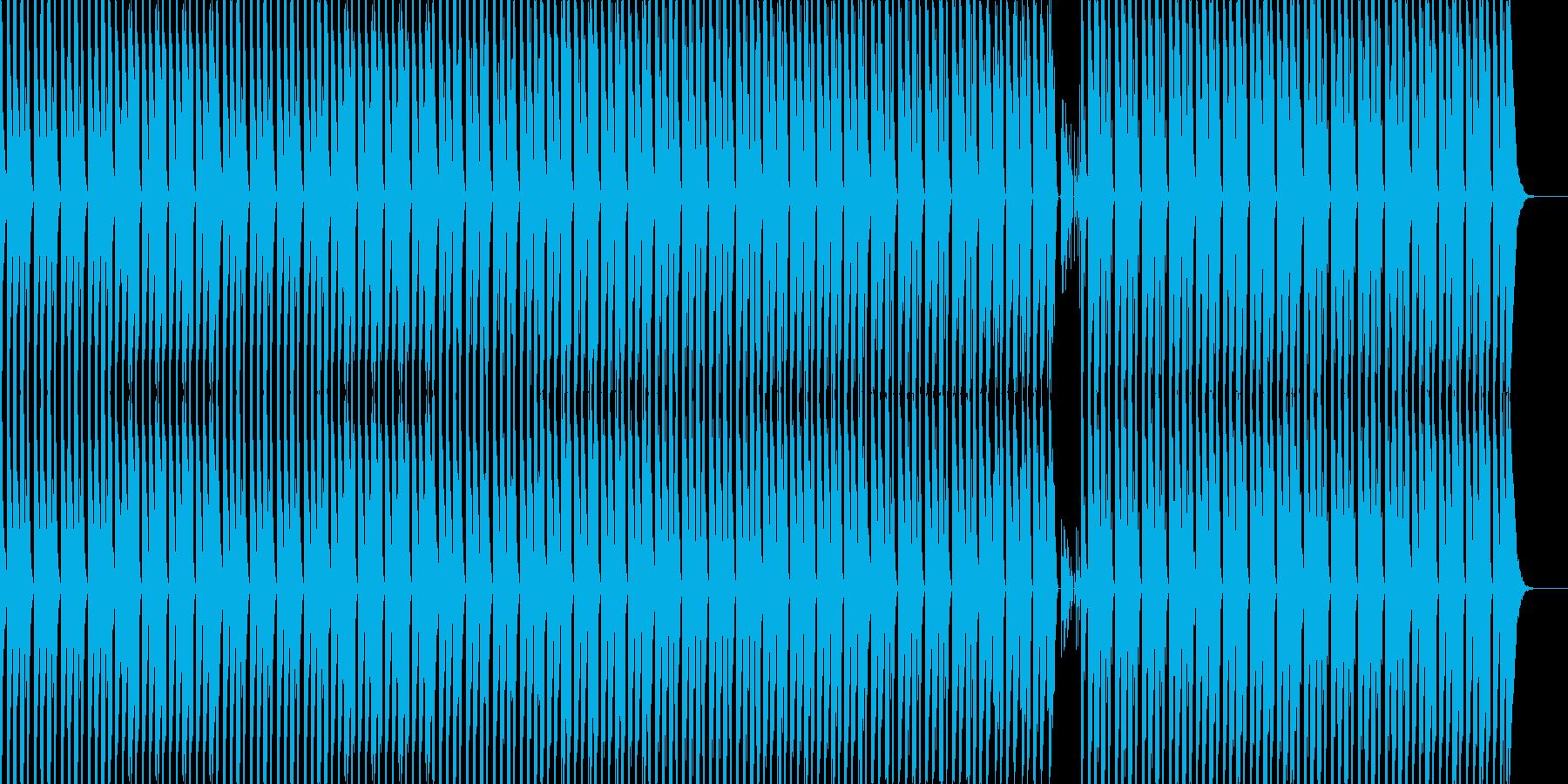 シンプルで印象的なテクノの再生済みの波形