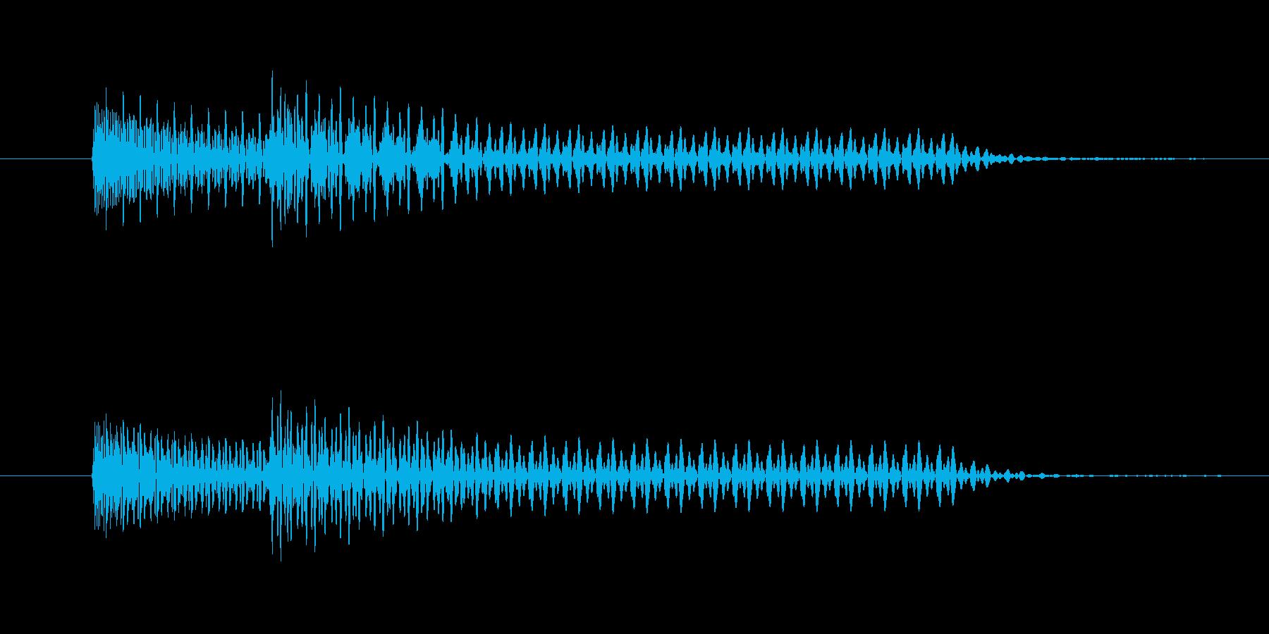 windowsOS風効果音。の再生済みの波形