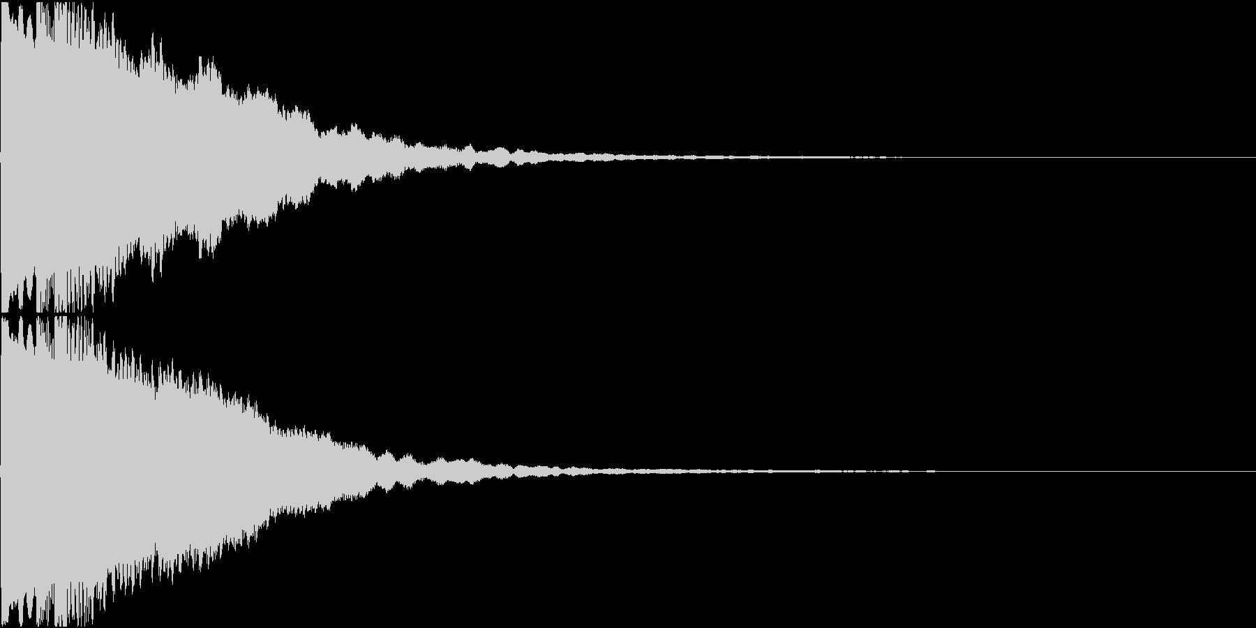 きらりん(サウンドロゴ)の未再生の波形