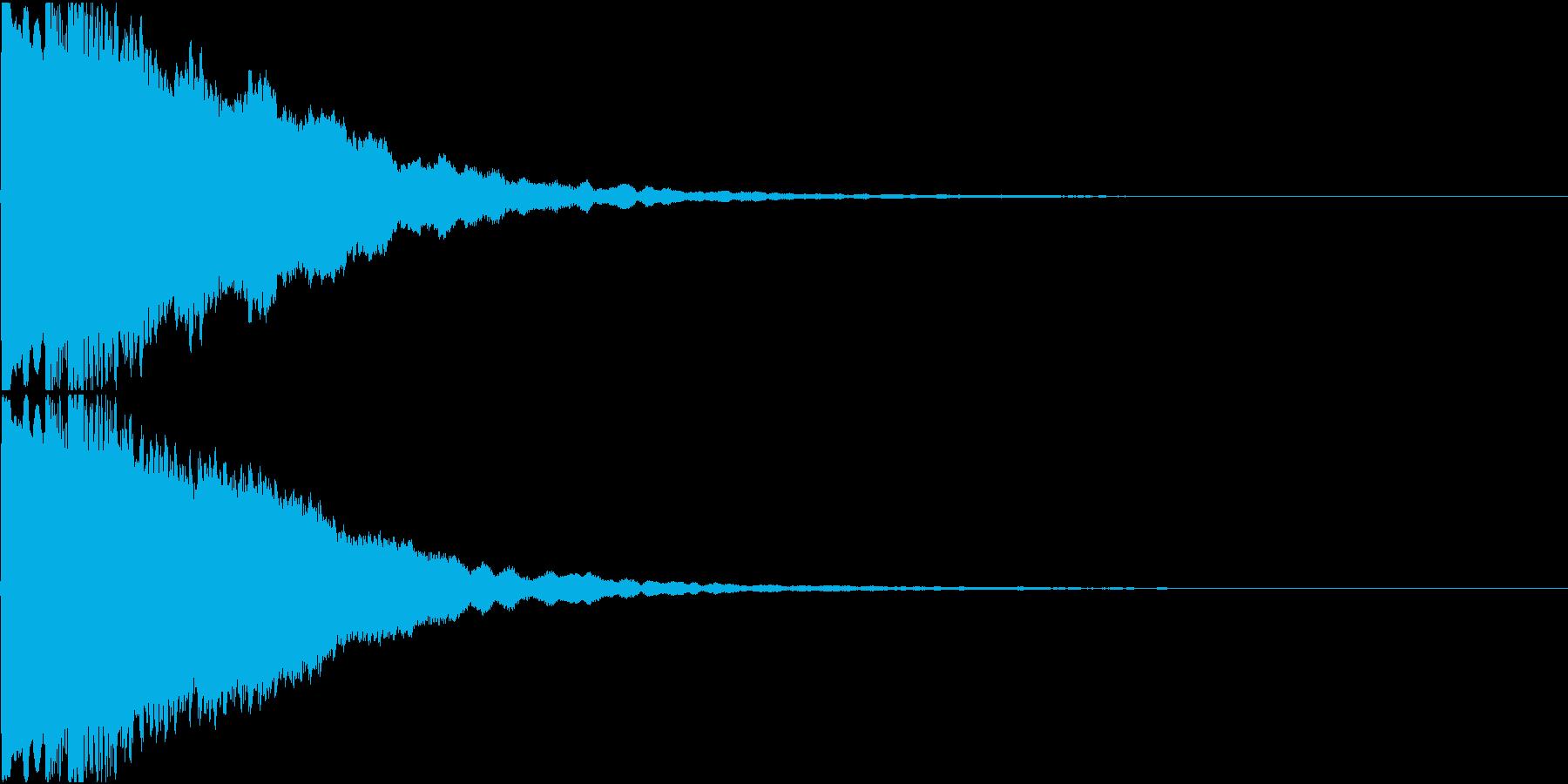 きらりん(サウンドロゴ)の再生済みの波形
