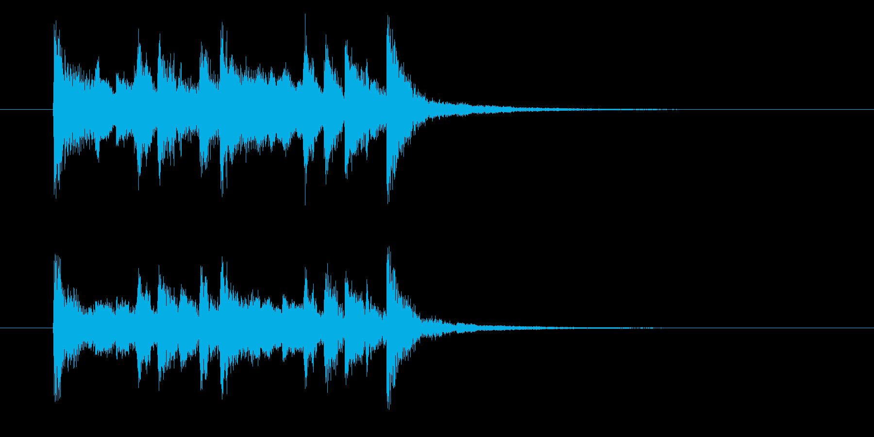 フュージョンとポップスのジングル曲の再生済みの波形