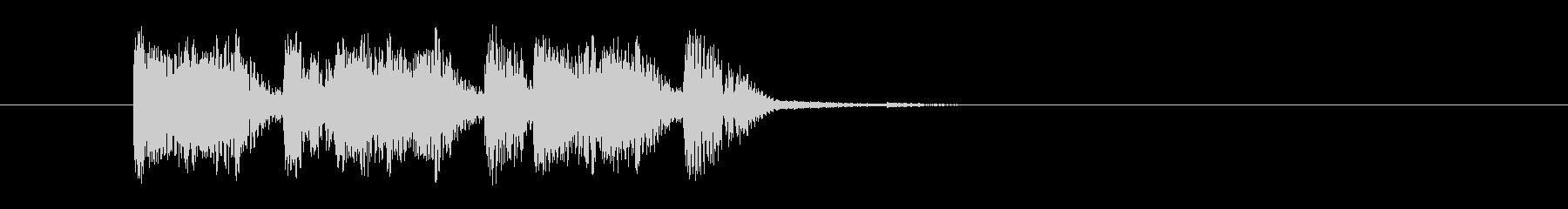 激しく勢いあるギターによるハードロックの未再生の波形