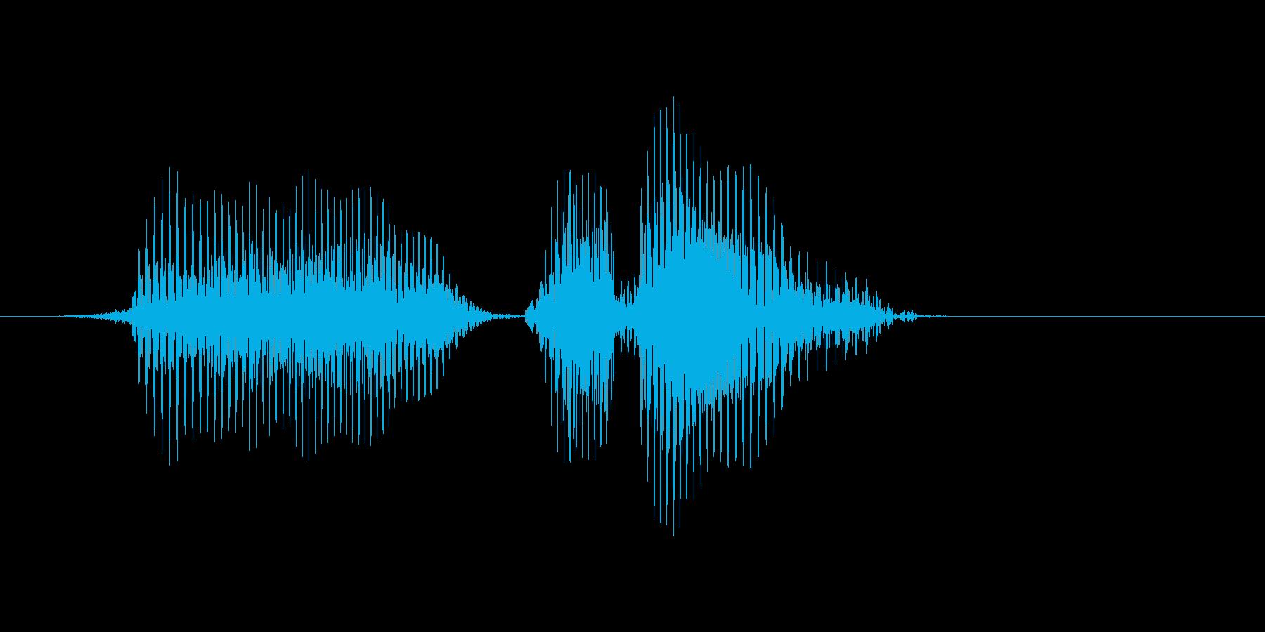 ファインプレーの再生済みの波形