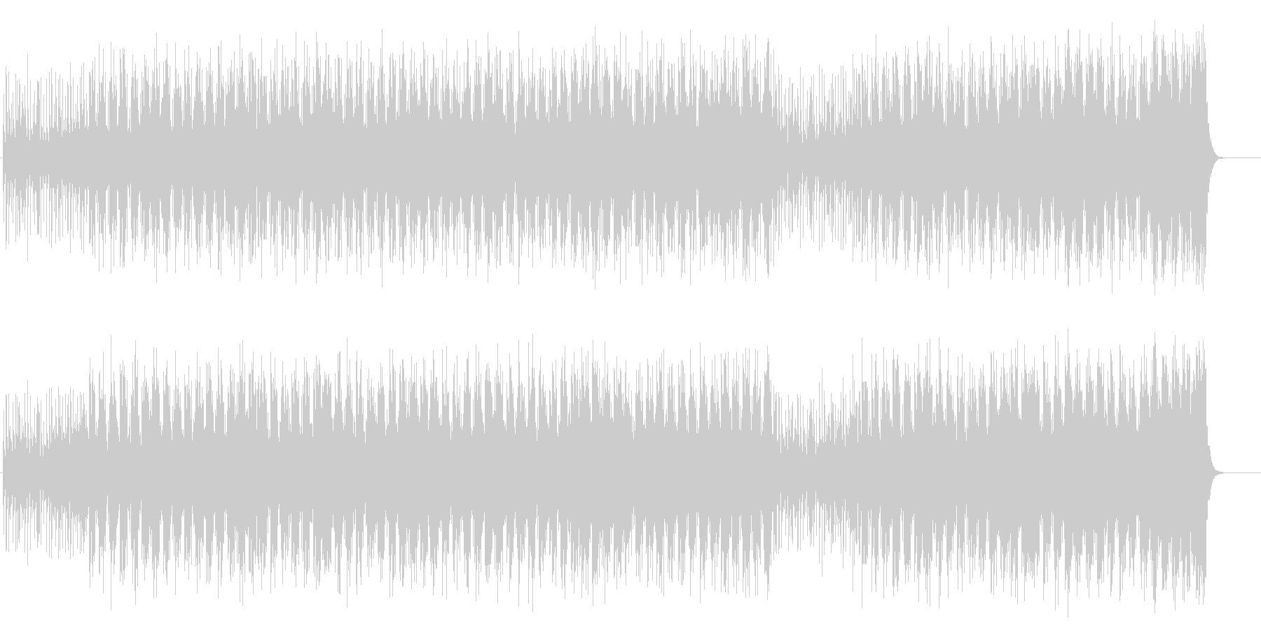 字幕インフォメーション用フュージョンの未再生の波形