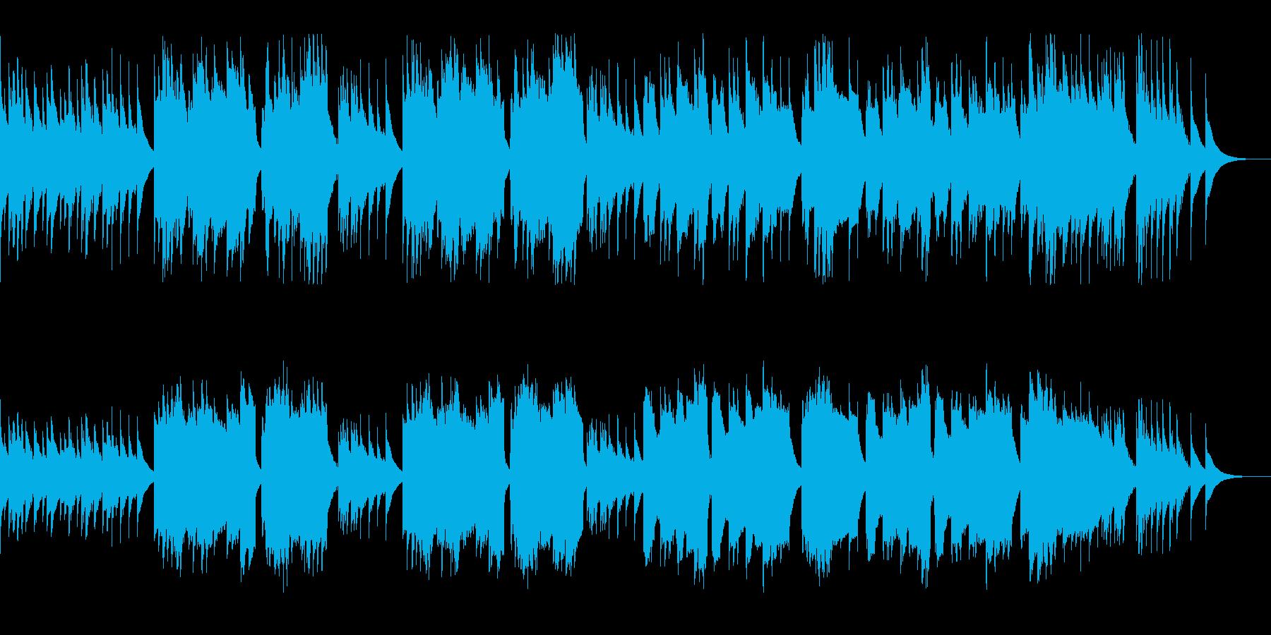 沖縄風 ゆったりで古典的 三線と笛 夏の再生済みの波形