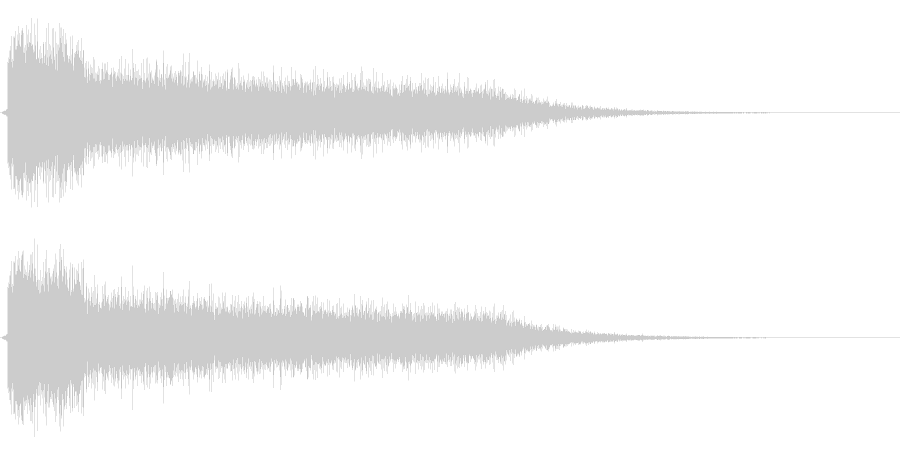 レーザービーム2連の未再生の波形