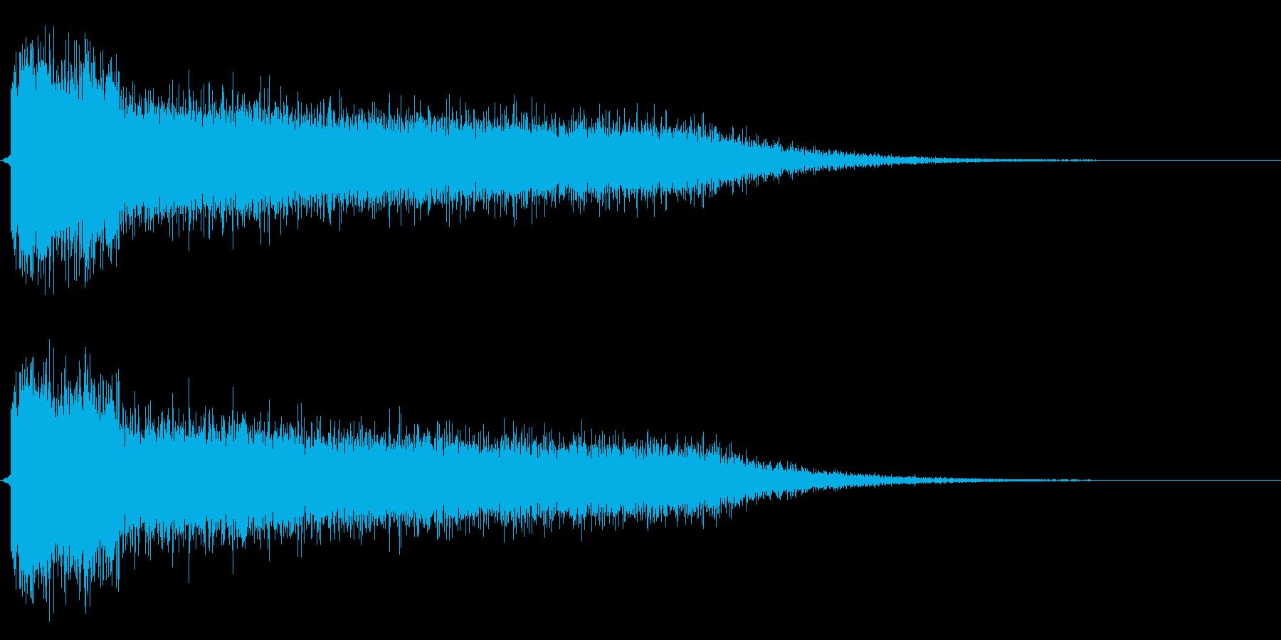 レーザービーム2連の再生済みの波形