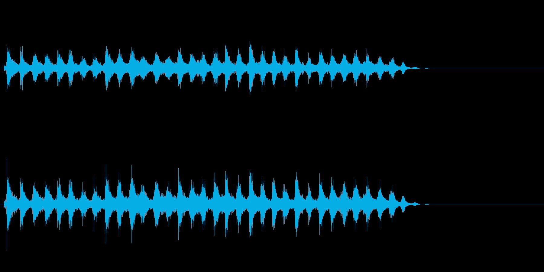 音侍「チャッパ」和製シンバルのフレーズ3の再生済みの波形