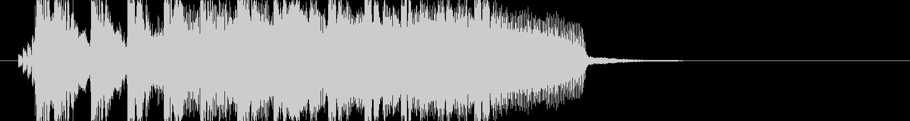 【ジングル】かわいい、デジタル風、ラジオの未再生の波形