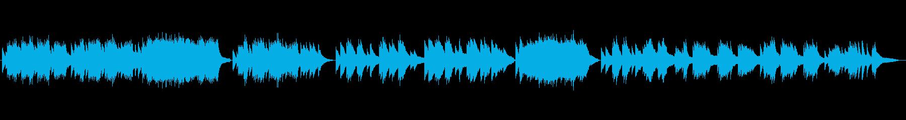 童謡『浜辺の歌』をピアノソロでの再生済みの波形