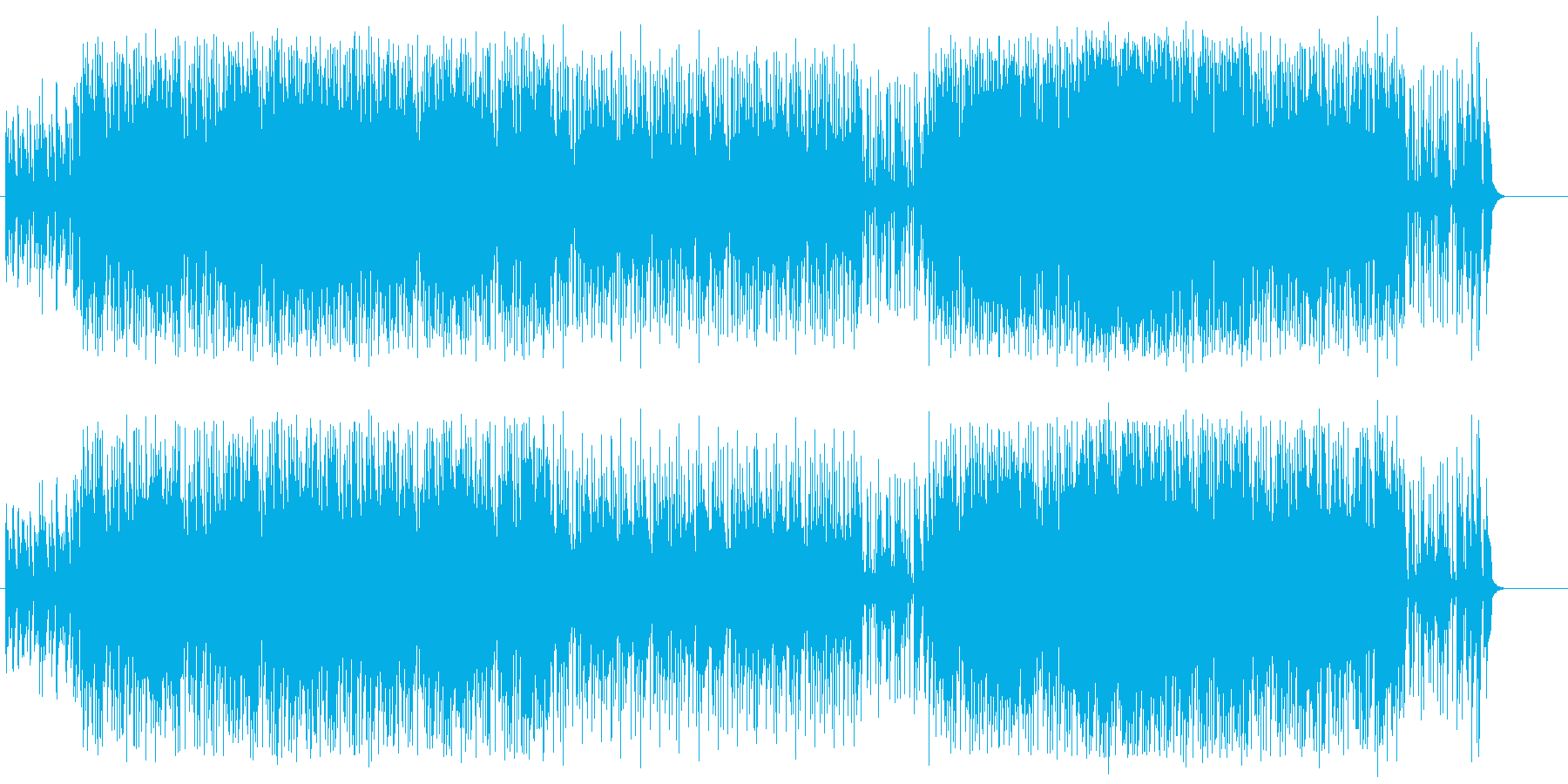 デートを楽しみたくなるフュージョンの再生済みの波形
