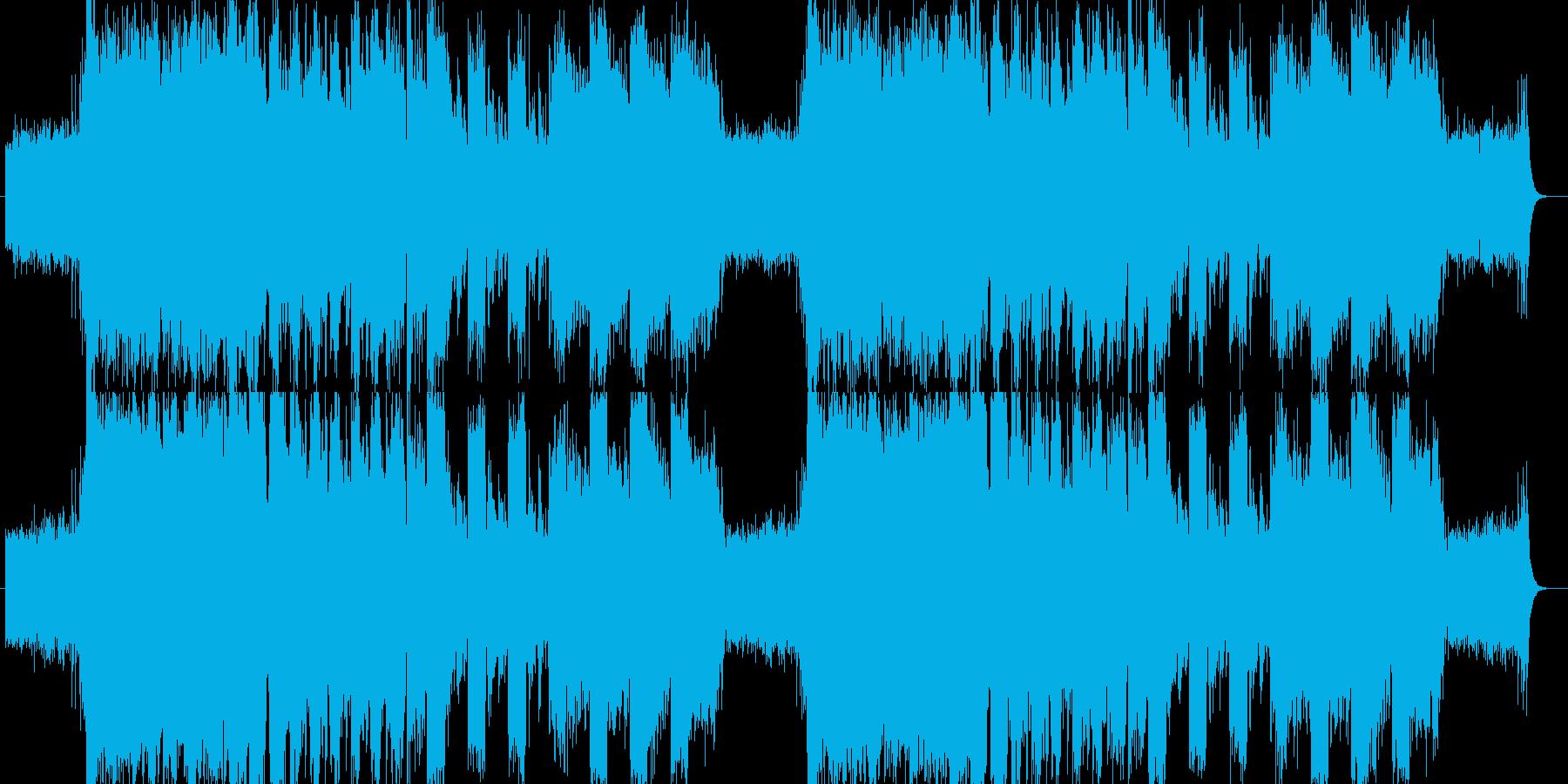 ボスバトル向けの激しいロックの再生済みの波形