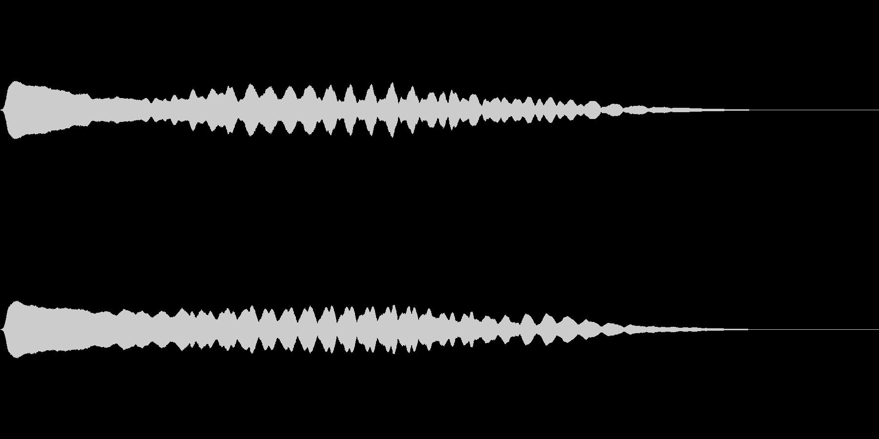 生演奏による尺八一吹きの未再生の波形