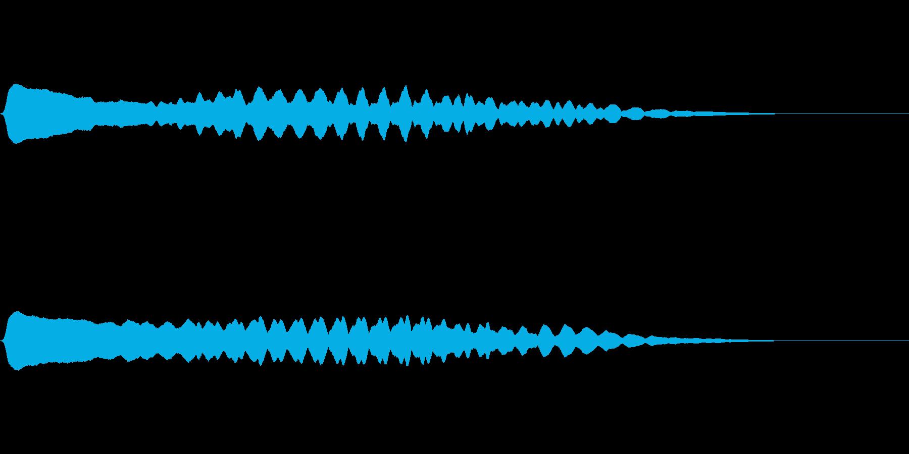 生演奏による尺八一吹きの再生済みの波形