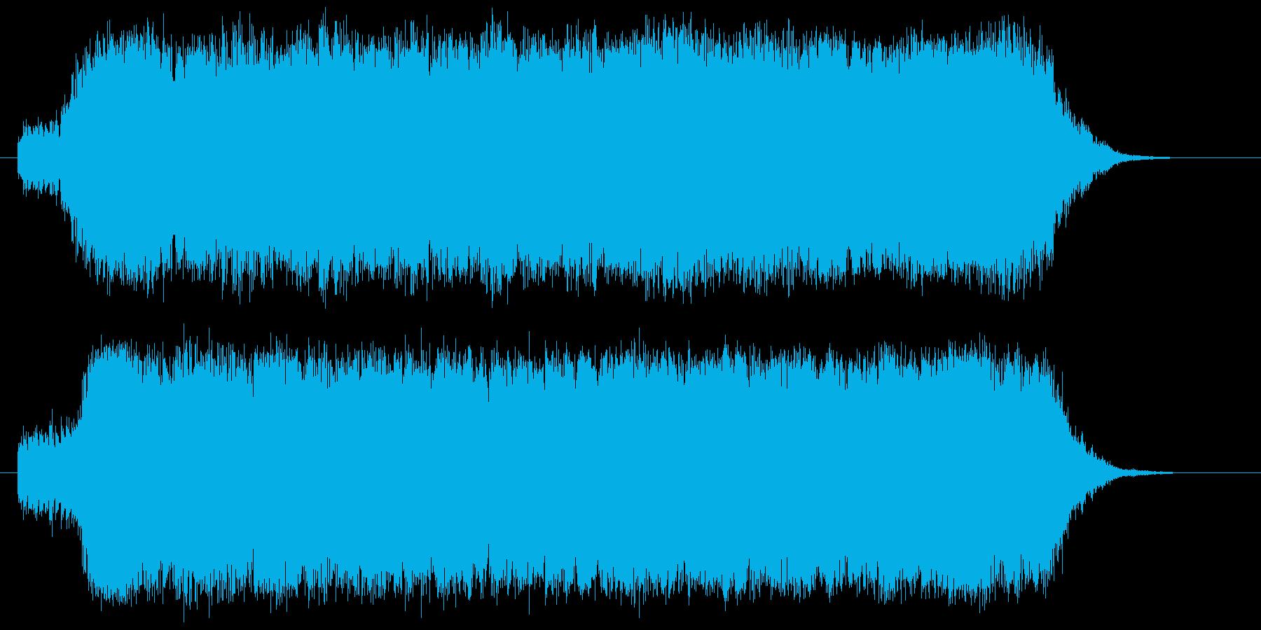 近未来感があり三味線が印象的なBGMの再生済みの波形