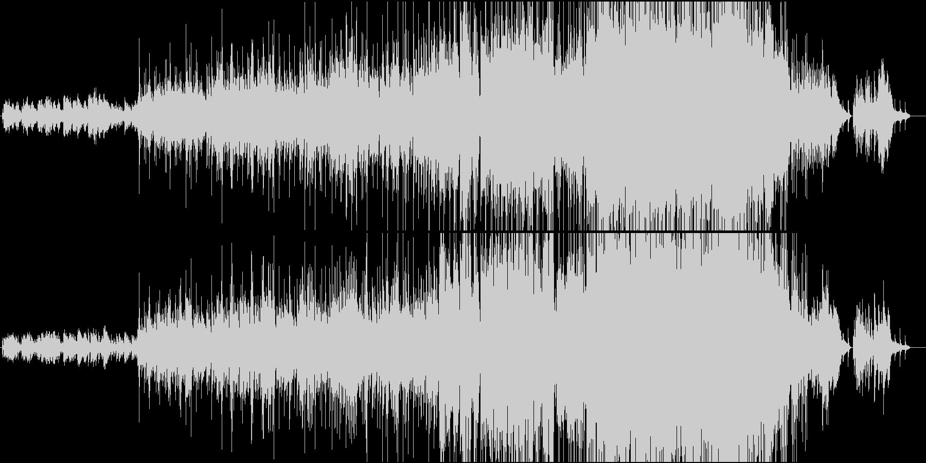 クリスマス・ピアノバラードの未再生の波形