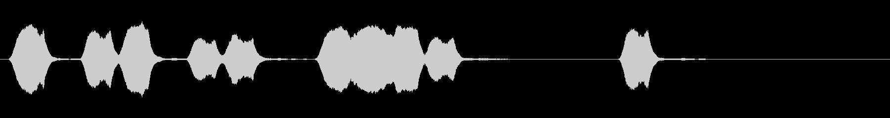 ジングル 口笛 学校 ほのぼのの未再生の波形