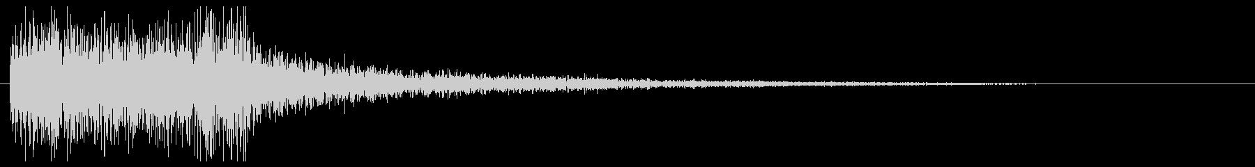 ブラス・ティンパニの場面転換 CMインの未再生の波形