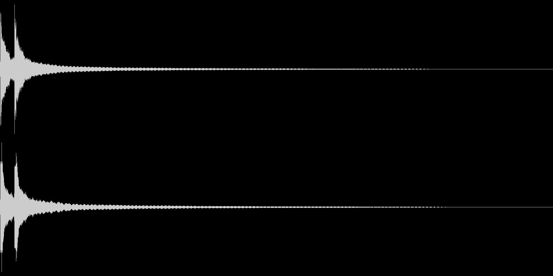 チーン:卓上ベルの音の未再生の波形