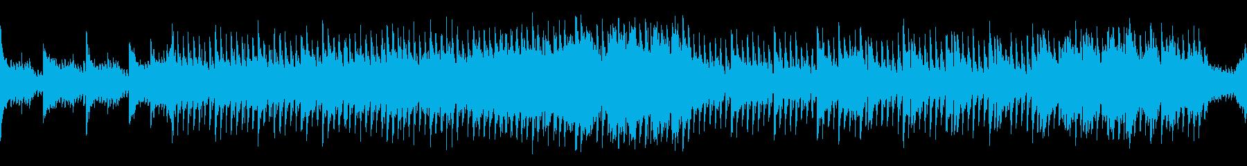 アップテンポな楽しい曲の再生済みの波形