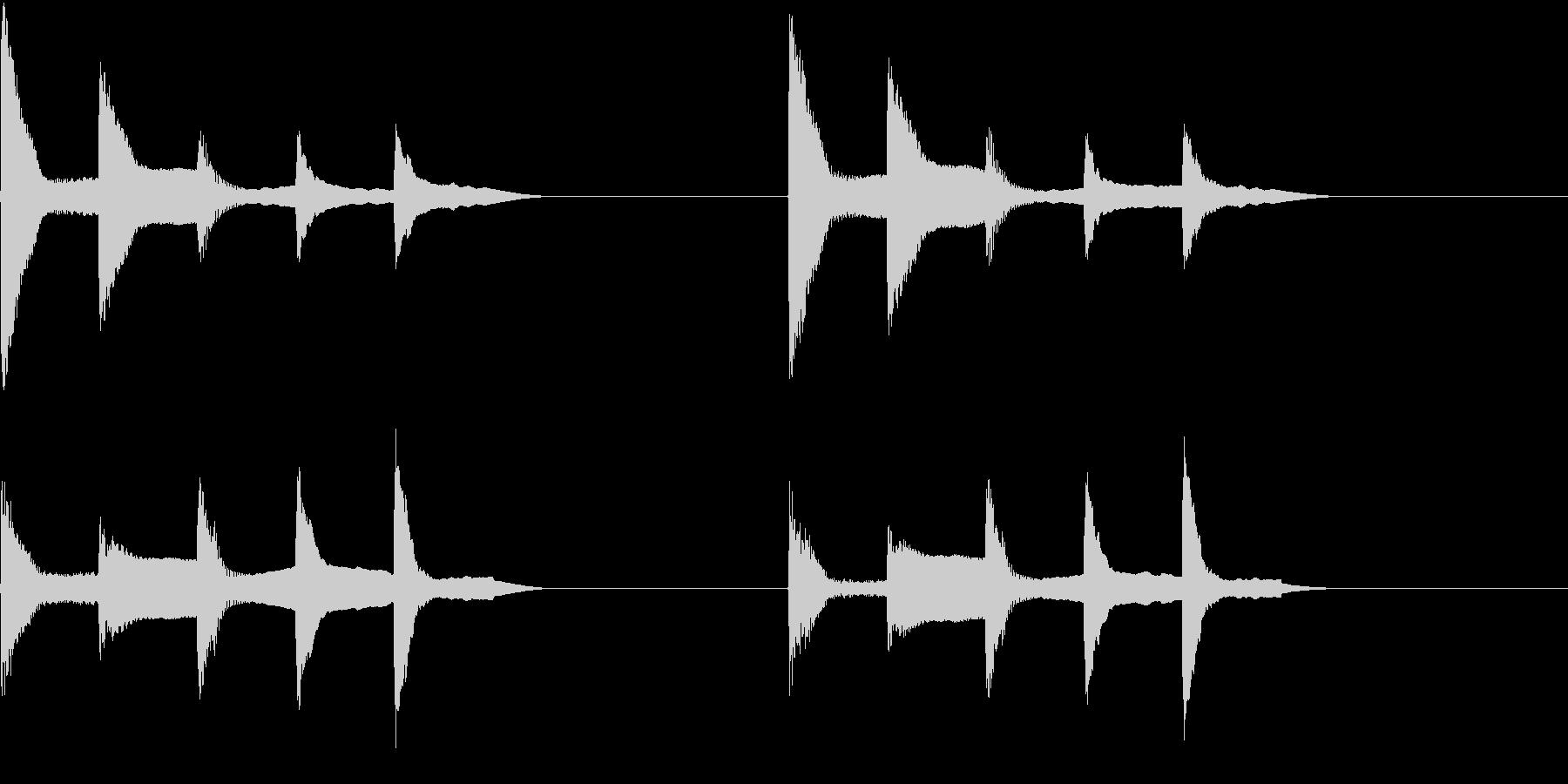 着信音 ループ お知らせ 通知 4の未再生の波形
