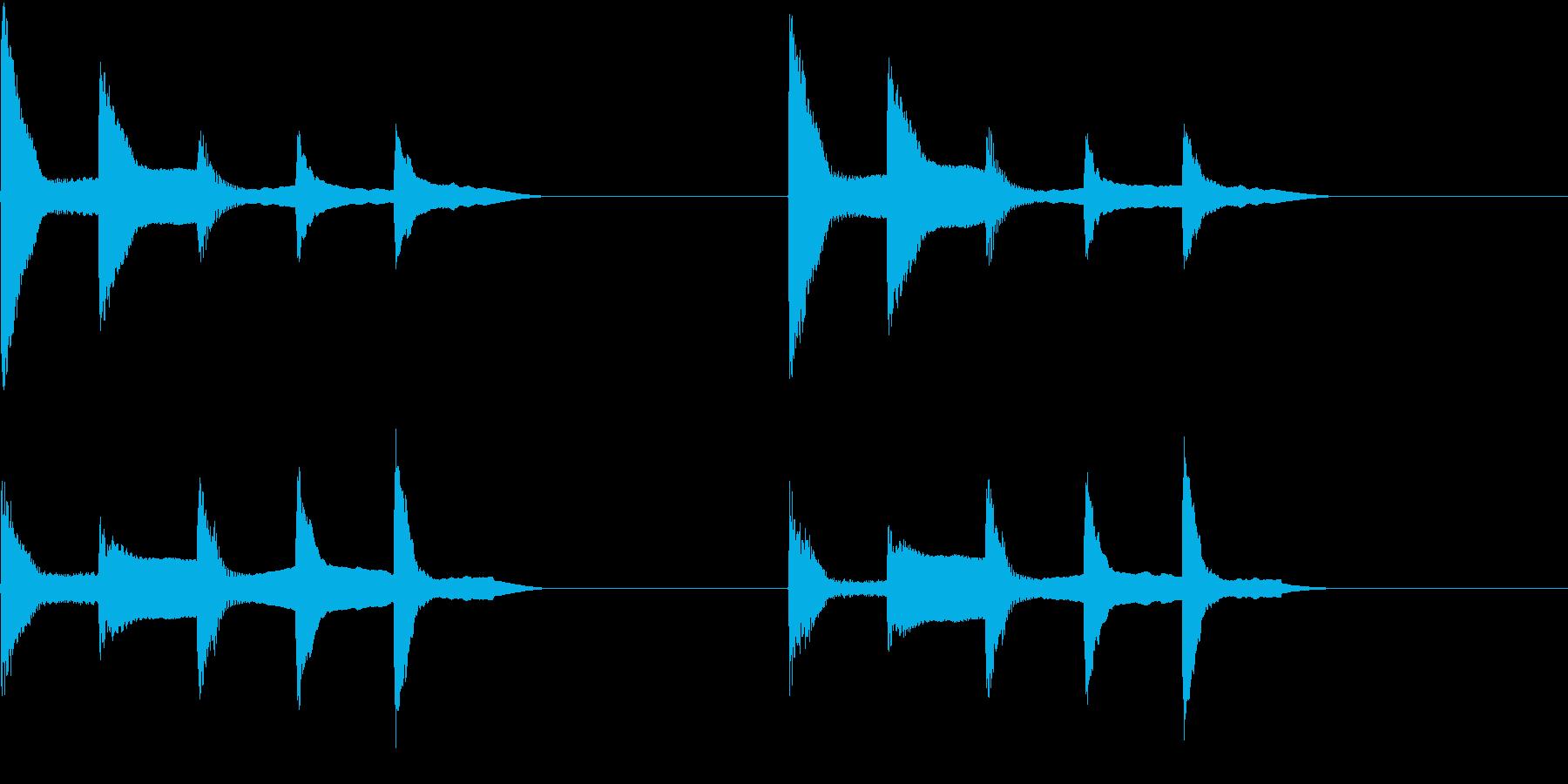 着信音 ループ お知らせ 通知 4の再生済みの波形