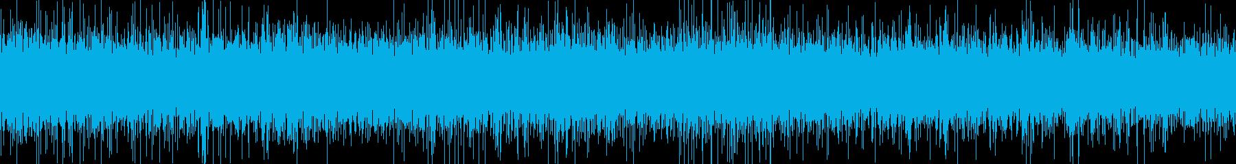 小さな滝(環境音)の再生済みの波形