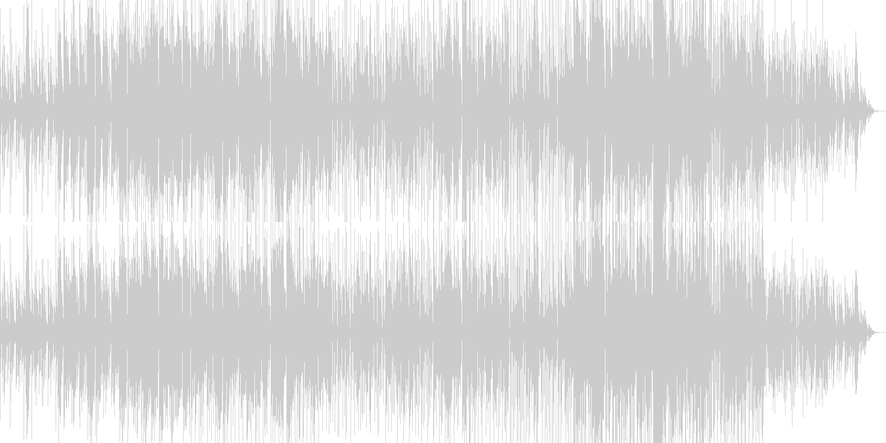 尺八(Wa & Electronic)の未再生の波形