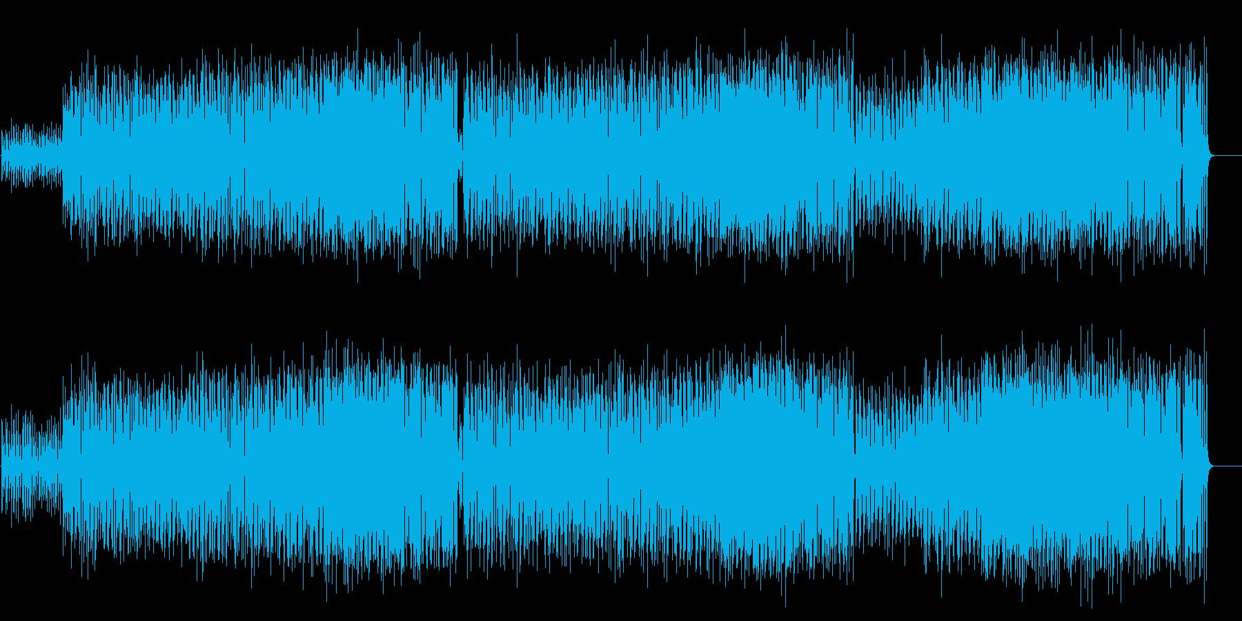 ハートウォームで涼しげなポップスの再生済みの波形
