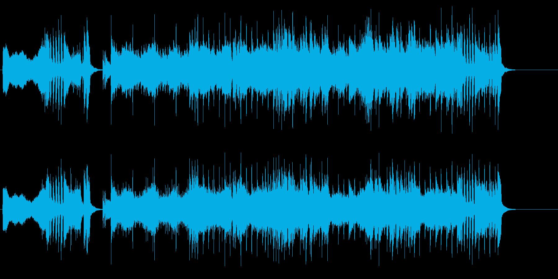 オープニング・テーマ向きの曲の再生済みの波形