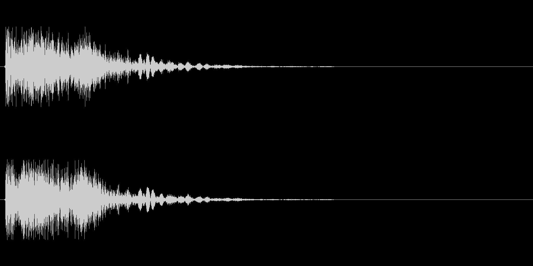 ビーム ワンショット2の未再生の波形
