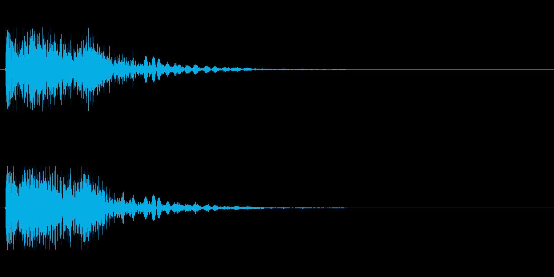 ビーム ワンショット2の再生済みの波形