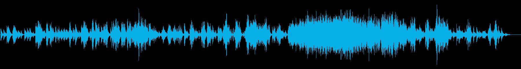 落ち着いたイージーリスニングピアノソロの再生済みの波形