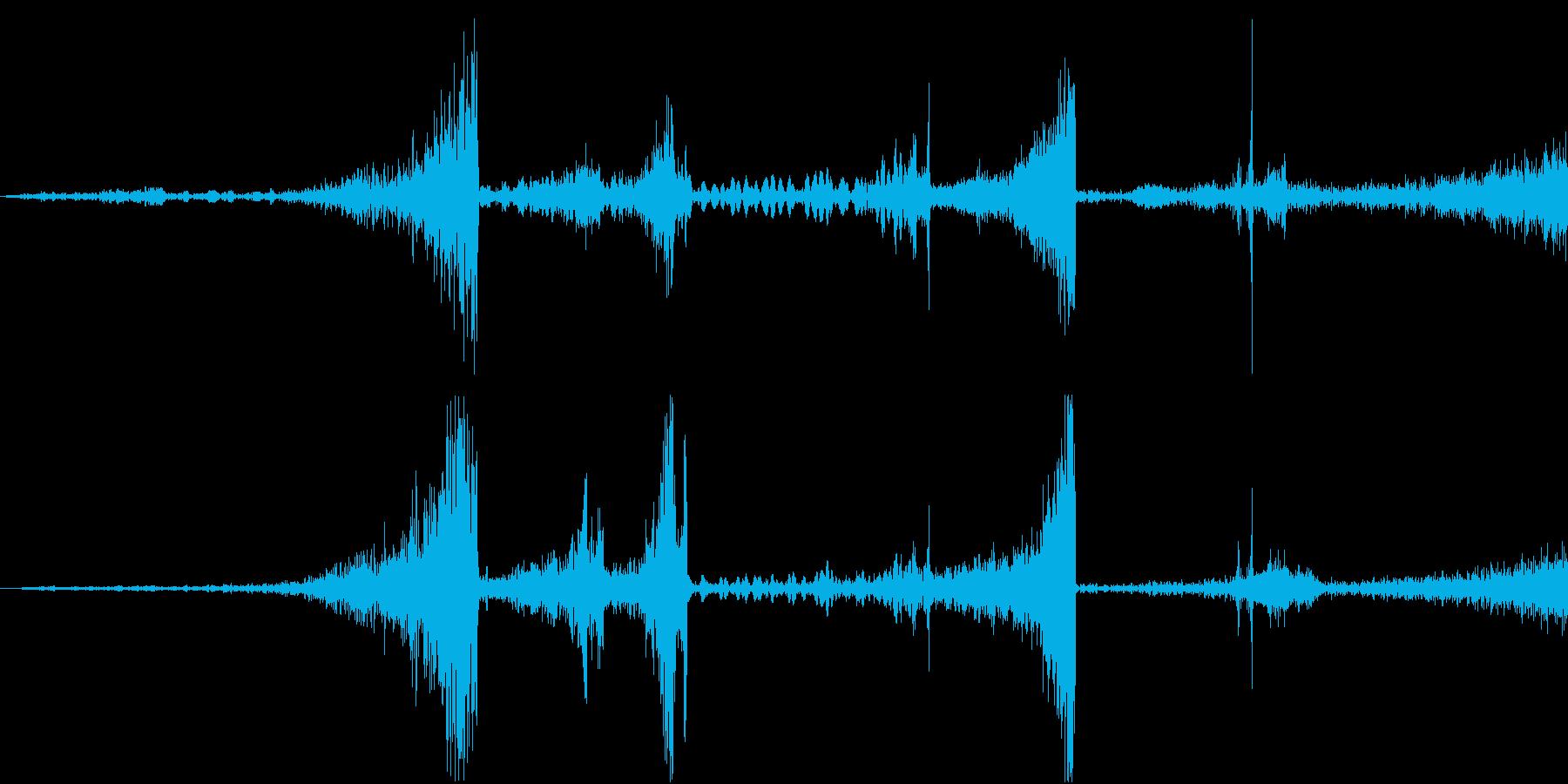 Zap 巻き戻し音・ザップ効果音 6の再生済みの波形