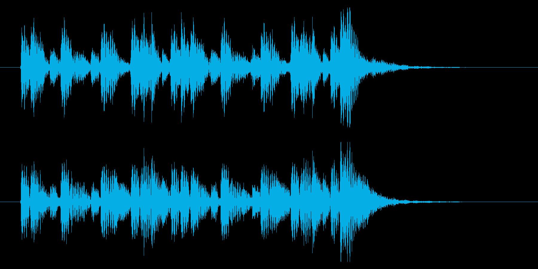 民族風アイキャッチ☆口琴2の再生済みの波形