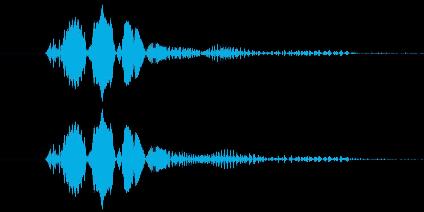 ピュン!というレトロゲーム風の発射音ですの再生済みの波形