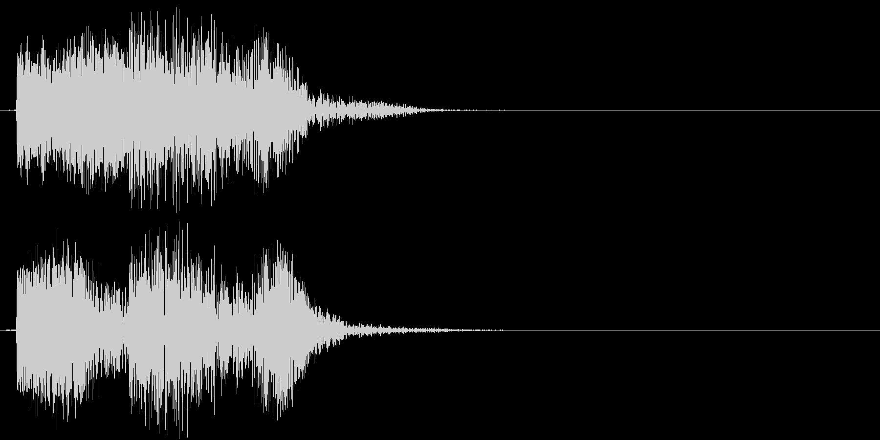 チュボ(ビーム、電子、ゲーム)の未再生の波形