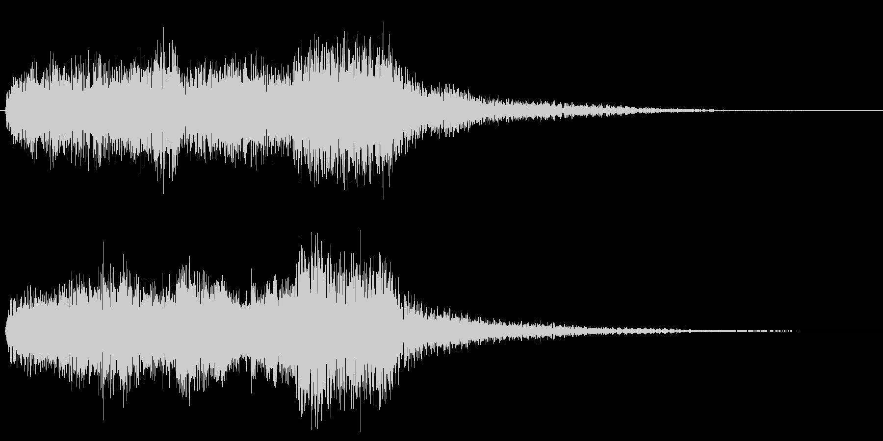 ミステリアスなオルガン、ピアノの未再生の波形