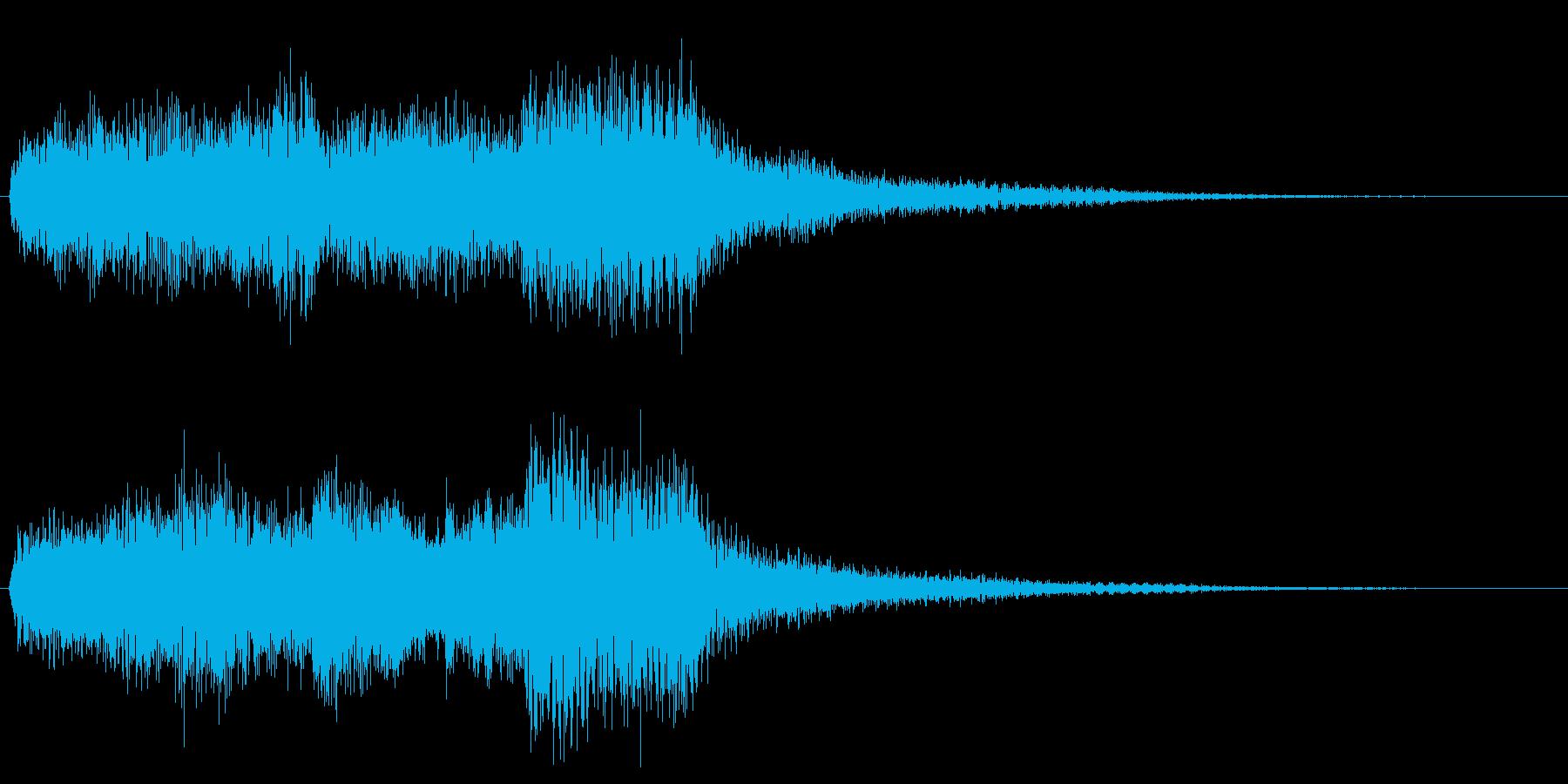 ミステリアスなオルガン、ピアノの再生済みの波形