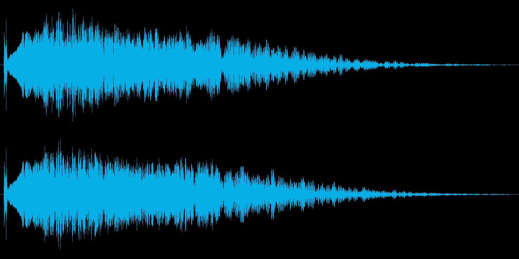 キュイーン。音低め、少し衝撃系ノイズ含むの再生済みの波形