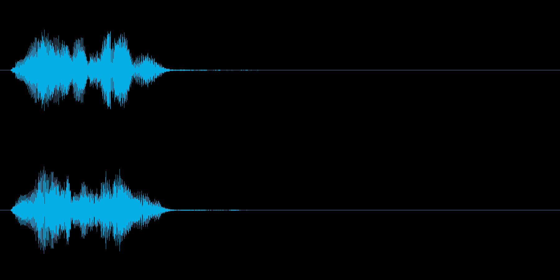 ボイス_英語_レーザーの再生済みの波形