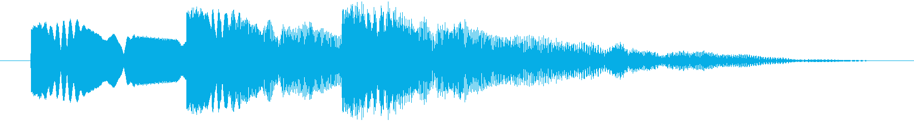 弾を撃つ(ショット) 三連射 チチチゥッの再生済みの波形