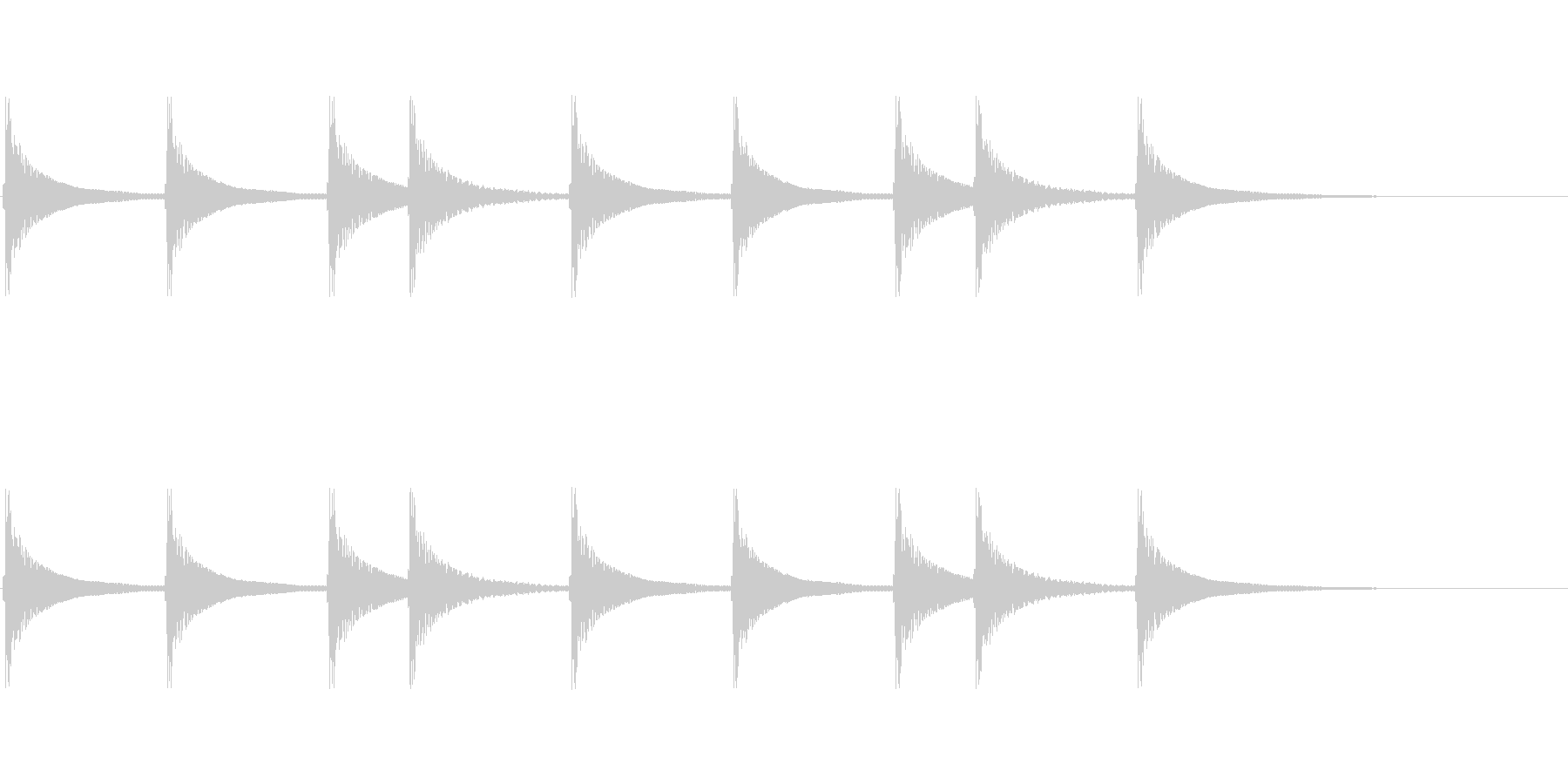 三味線のジングルの未再生の波形
