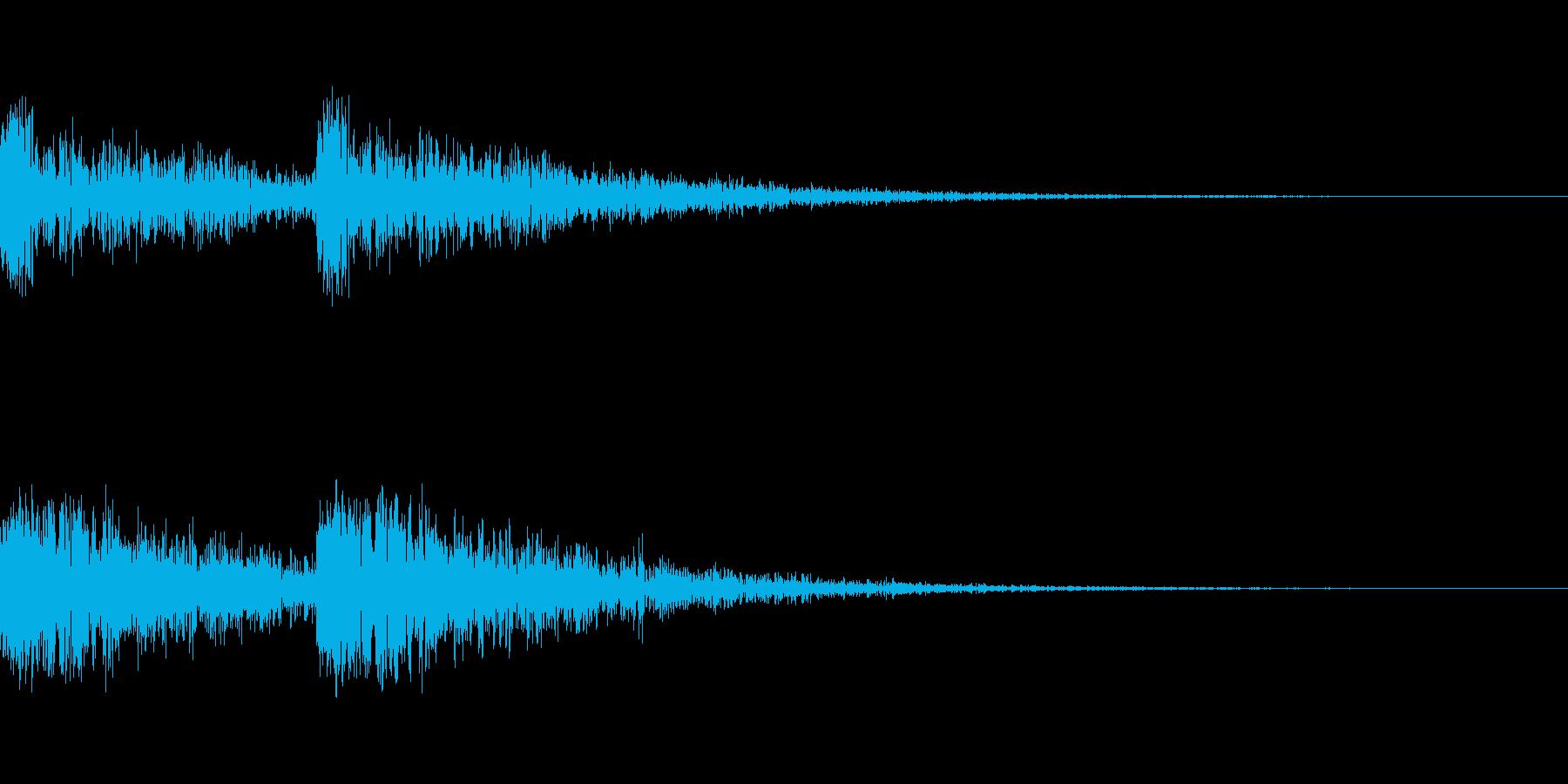 どんどん(木槌、工房、裁判)の再生済みの波形