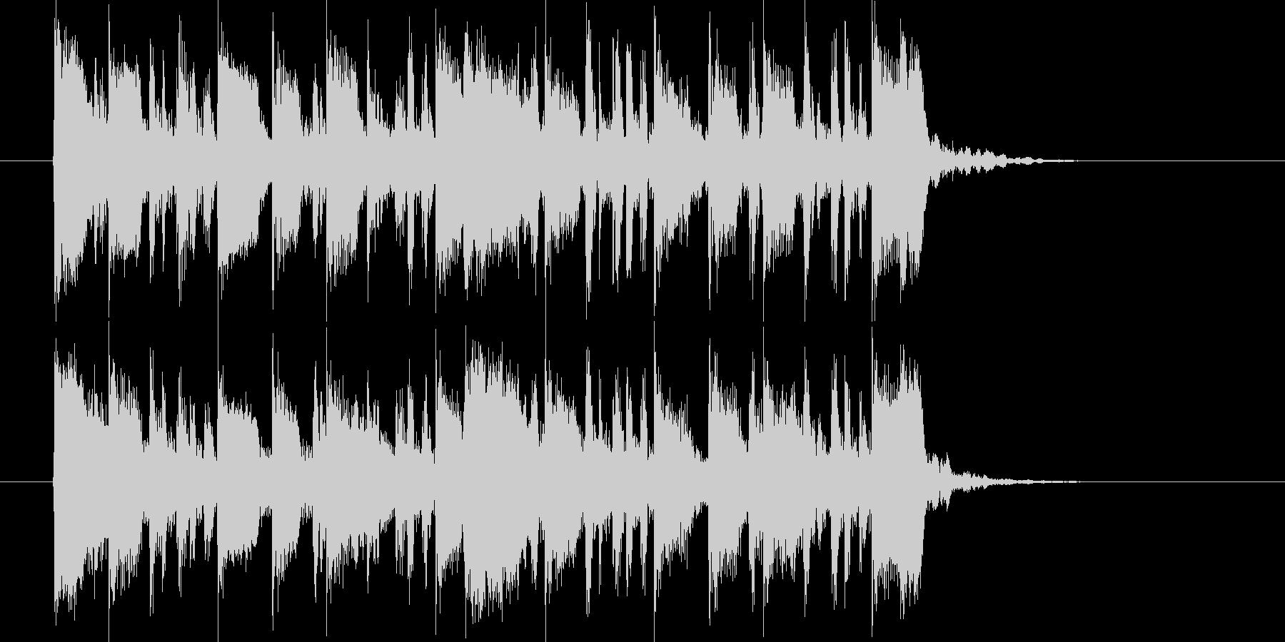 緩やかで煌き感あるシンセジングルの未再生の波形